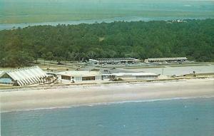 Air View of Jekyll Island, GA, Georgia, Chrome