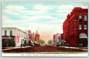 Watertown South Dakota~Kemp Avenue East~Downtown Shopping~Church Distance~c1910