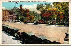 Massachusetts Haverhill Post Office and Washington Square Park