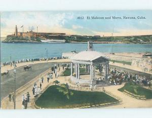 Unused Old Postcard EL MALECON AND MORRO Habana - Havana Cuba F5323