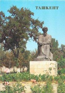 Uzbekistan Tashkent monument to Biruni postcard