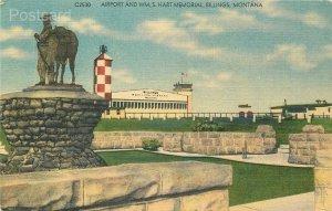 MT, Billings, Montana, Airport, Wm. S. Hart Memorial Building, Cecil C. Nixon