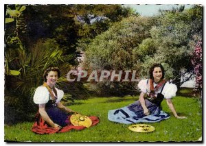 Nice Modern Postcard Two Pretty NICOISES Folklore