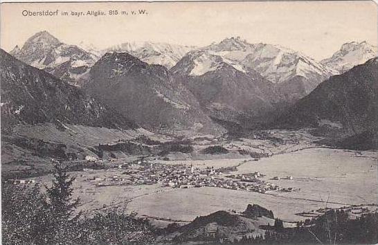 Germany Oberstdorf  Totalansicht 1911