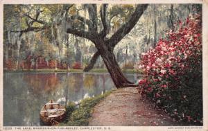 The Lake, Magnolia-on-the-Ashley, Charleston, S.C., Early Postcard, Unused