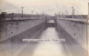 RP; Gatun locks, looking South, Panama, 1910s