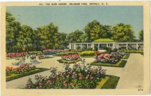 Linen of The Rose Garden Delaware Park Buffalo NY 1948
