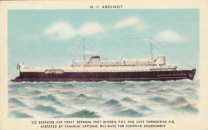 M.V. Abegweit, Ice Breaking Car Ferry, Operated by Canadian National Railways...