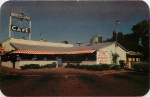 Brite Spot Cafe 1950s Indio California Roadside Petley postcard 8134