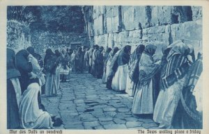 JERUSALEM, Israel, 10-20s; The Jews walling place a friday # 1
