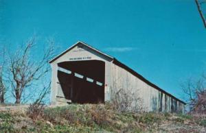 Adams Covered Bridge over Little Raccoon Creek - Parke County, Indiana