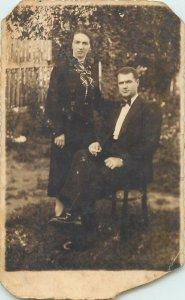 Postcard natural happyness family photo 1937 Micesti Romania