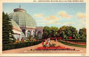 Michigan Detroit Bele Isle Horticultural Building Curteich