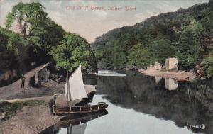 RIVER DART (Devon), England, UK, PU-1911; Old Mill Creek, Boat