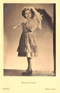 Child Movie Star Shirley Temple Post Card Old Vintage Antique Unused