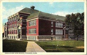 Ingalls New High School Atchison Kansas Vintage Postcard Standard View Card