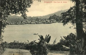 Singapore From St. James c1910 Postcard