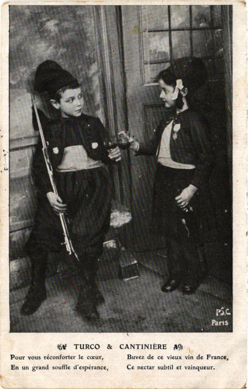CPA MILITAIRE Turco & Cantiniére (315696)