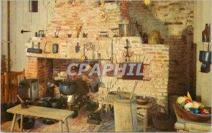 Postcard Old Plantation Louisiana Kitchen