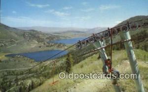 Superb Ski Run, Lake Tahoe, NV USA Skiing Postcard Post Card Old Vintage Anti...