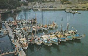 Boats docked at cove on Depoe Bay OR, Oregon