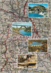 Postcard Modern High Auvergne St Flour Garabit Grand Val
