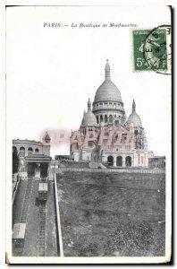 Postcard Old Paris Basilica of Montmartre