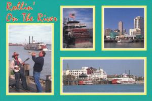 4-Views, Rollin' on the River, Mighty Mississippi, NEW ORLEANS, Louisana, 50-70s