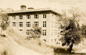 Turkey - Constantinople (Istanbul). Robert College, Engineering Building.  *RPPC