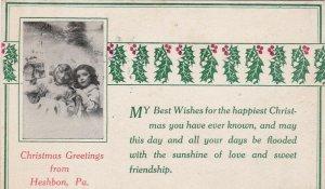 HESHBON , Pennsylvania, 1912 ; Christmas Greetings