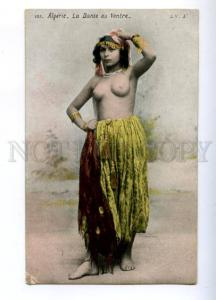 174056 Semi-nude Algerian girl belly dancer Vintage postcard