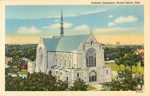Linen Card of Catholic Cathedral Grand Island Nebraska NE