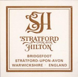 England Stratford Upon Avon Hilton Hotel Vintage Luggage Label lbl0280