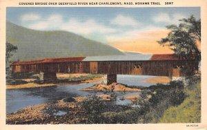 Covered Bridge over Deerfield River Mohawk Trail, Massachusetts