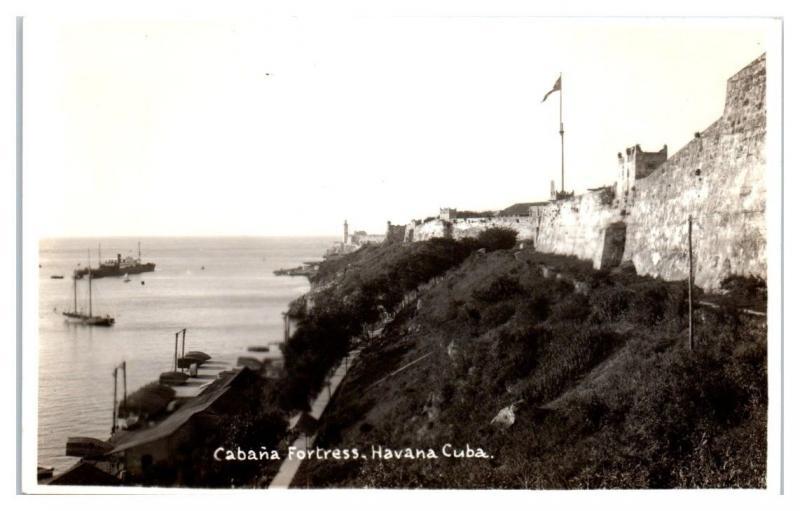 RPPC Cabana Fortress, Havana, Cuba Real Photo Postcard