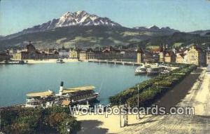 Luzern Swizerland, Schweiz, Svizzera, Suisse Seebrucke, Schweizerholquai u Pi...