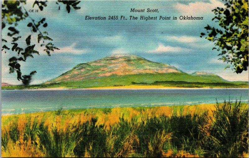 LOT OF 2 OKLAHOMA GUTHRIE MOUNT ANTIQUE & LINEN POSTCARD