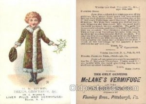 D.E. Hurd Drugs Groceries Turin, NY, USA Trade Card Approx Size Inches = 3 x ...