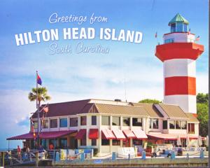 Hilton Head SC -  Harbor Town Lighthouse and restaurant, 1980s
