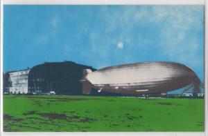 The Hindenberg Zeppelin Emerging from Hanger Lakehurst New Jersey Postcard