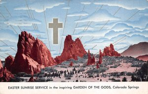Religious Postcard Easter Sunrise Service-Garden of the Gods Colorado Springs...