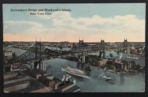 Queensboro Bridge and Blackwell's Island NYC 1916 The American Art Publ Co 84