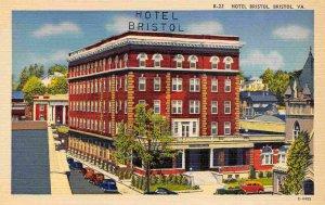 Hotel Bristol Virginia 1940s linen postcard