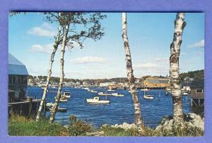 Nice Boothbay Harbor, Maine/ME Postcard, Busy Harbor Scene
