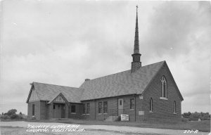 G24/ Creston Iowa Real Photo RPPC Postcard c1950s Trinity Lutheran Church
