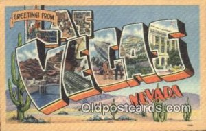 Las Vegas, NV, USA Large Letter Town Postcard Post Card Old Vintage Antique U...