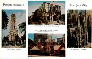 New York City Famous Churches Multi View