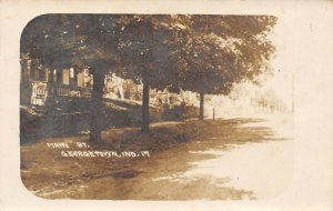 LP75 Georgetown Indiana Vintage Real Photo Postcard RPPC Main St. View