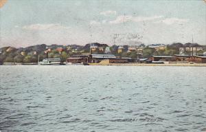New York Geneva View From Seneca Lake 1908 Rotograph
