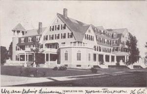 Templeton Inn Hotel - Templeton MA, Massachusetts - pm 1907 - UDB